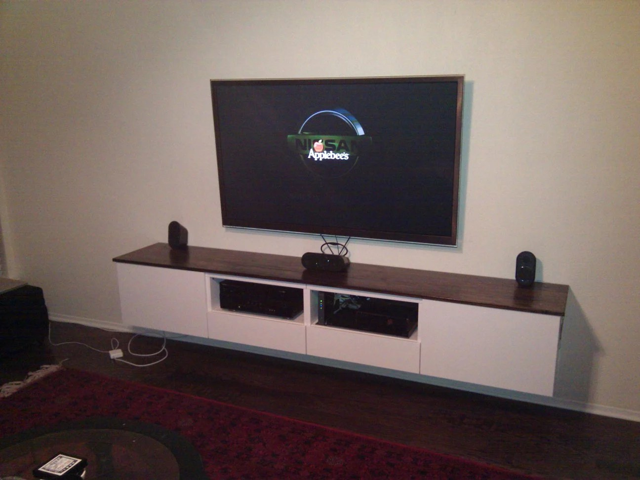 Diverting A Floating Media Center Ikea Hackers Floating Tv Stand Black Floating Tv Stand Overstock houzz-03 Floating Tv Stand