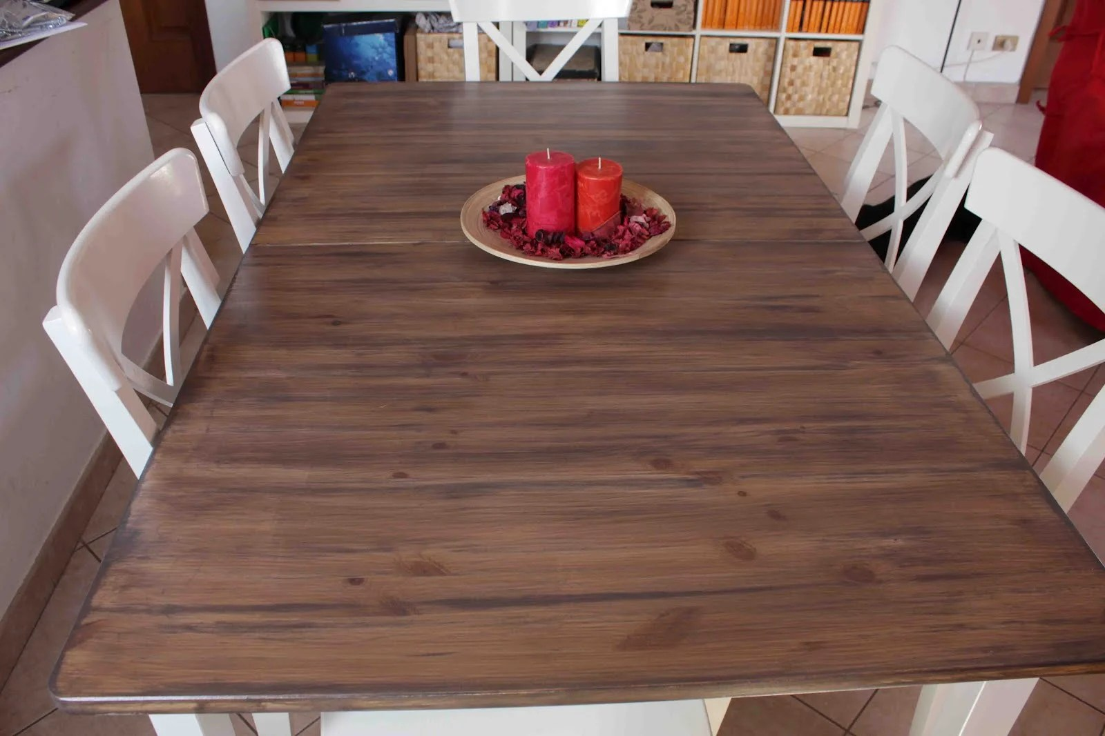 hack a country kitchen style dining table refinish kitchen table Hack a country kitchen style dining table
