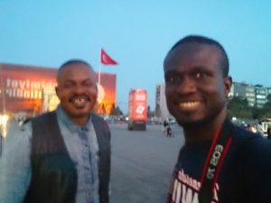 Barry and I on Taksim square