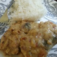Recipe: Chicken in Mushroom Cream Sauce