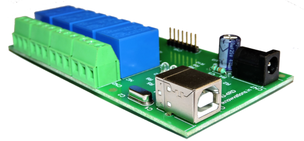 4 channel USB relay board- iU-4RD-2 from iknowvations.in