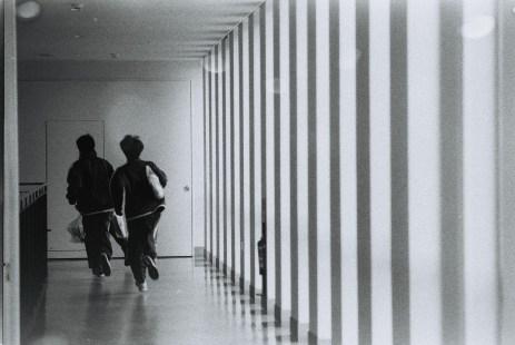 In the junior building corridor