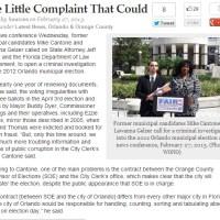 Absentee Ballots, Voting Irregularities & an Official Complaint in Orlando