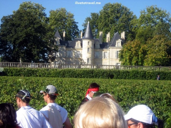 Chateau in the route of the Bordeaux marathon (Frnace)