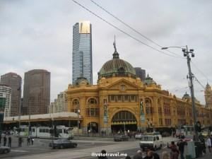 Melbourne, Flinders, train station, Australia, photo, travel