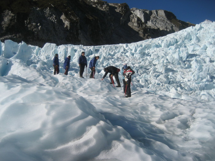 Franz Josef, glacier hike, New Zealand, blue ice, crampons, adventure, outdoors