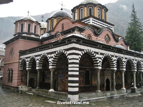 Rila Monastery church in Bulgaria