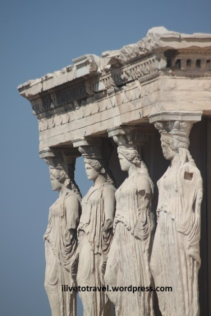Porch of Caryatids in the Acropolis in Athens, Greece