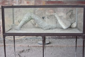 A victim of Vesuvius in Pompeii