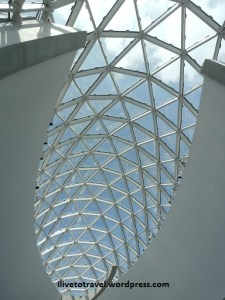 Glass ceiling at the Dali Museum in St. Petersburg - neat architect