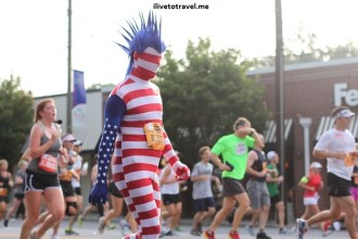 USA Spirit on the 4th of July at the Peachtree Road Race in Atlanta