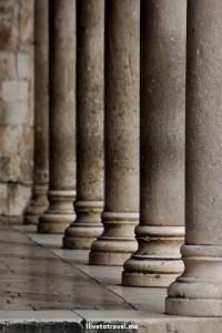 Architecture detail in Dubrovnik, Croatia