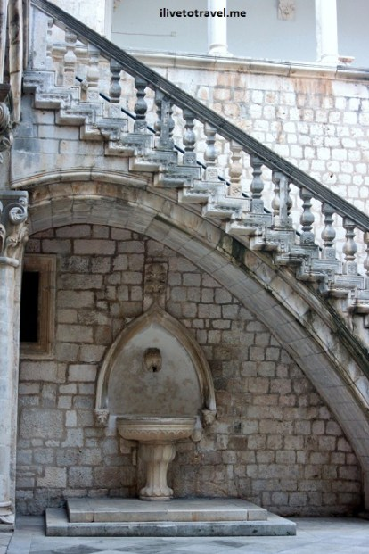 Detail of the Rector's Palace - courtyard - in Dubrovnik, Croatia