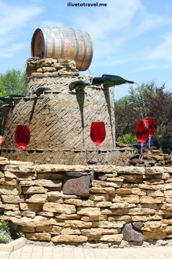Fountains in Milestii Mici winery in Moldova