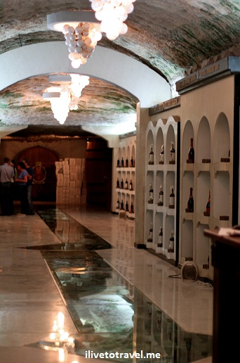 Store at Milestii Mici winery in Moldova