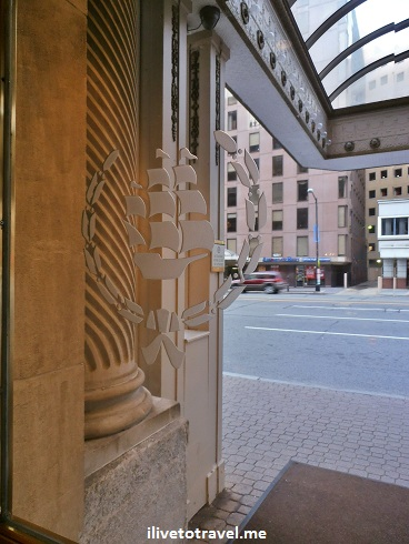 Logo in the Mayflower Hotel door (Washington, D.C.)