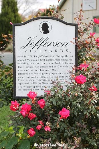 At Jefferson Vineyard in Virginia wine country