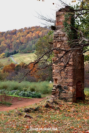 Ruins at Monticello, Virginia, Thomas Jefferson's home