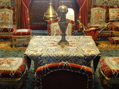Oriental room at Peles Castle in Romania
