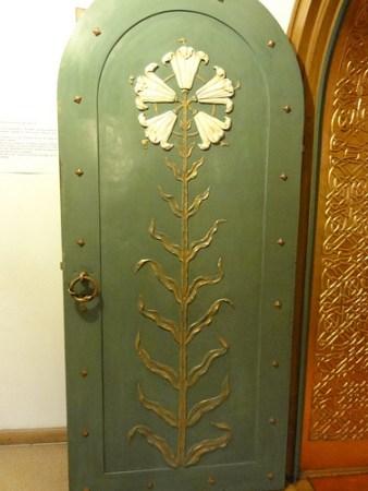 Door detail at Pelisor Castle in Romania