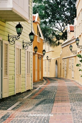 Otrobanda neighborhood of Willemstad, Curacao