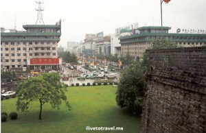 Xi'an - View from City Wall in Xian, China