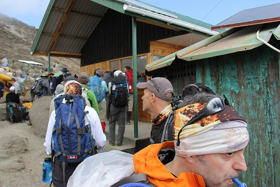 Signing in at Barafu Camp