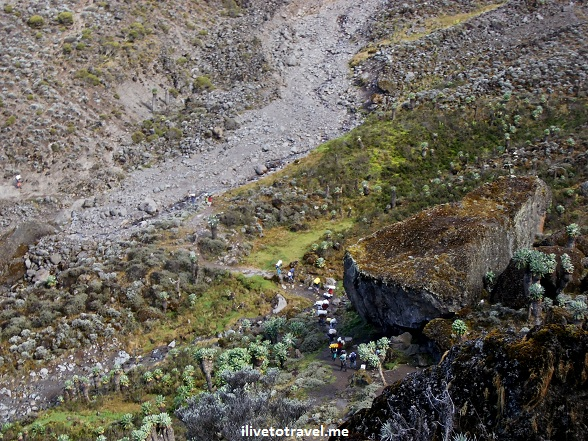 Entrance to the Barranco Wall on the Machame Route