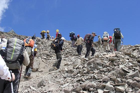 Approach to Barafu Camp in Mt. Kilimanjaro