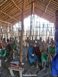 Kids at a Masai school in Tanzania