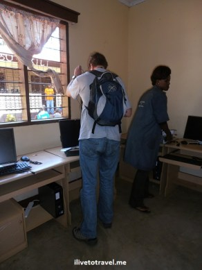 Computer lab being set up at the Kili Centre