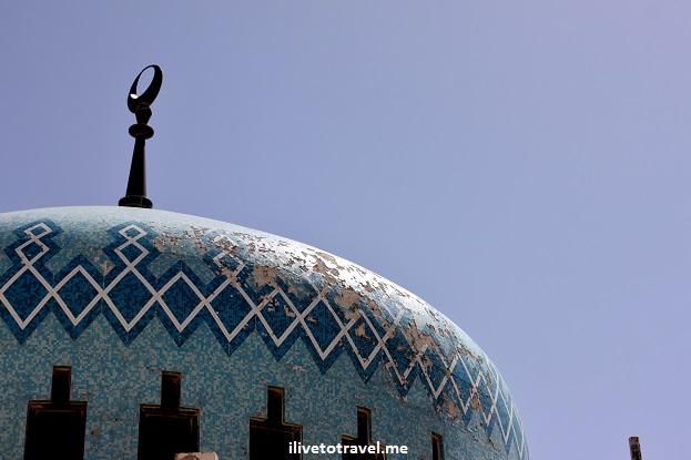 King Abdullah Mosque blue Amman, Jordan