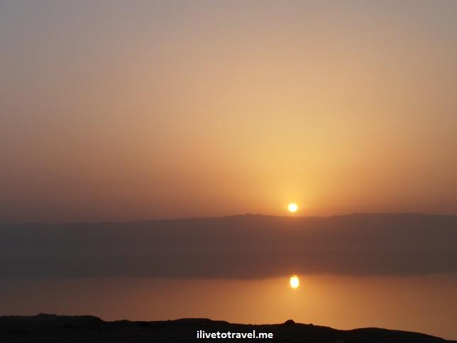 Sunset over the Dead Sea in Jordan, Olympus