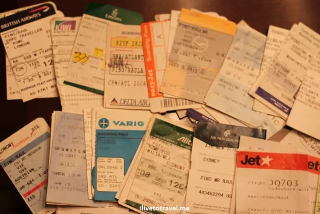 Airline boarding passes flight travel Varig Emirates Jet Kiwi Lufthansa Delta British Airways Austrian United Air New Zealand