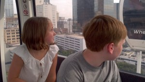 kids, downtown Atlanta, Skyview, Ferris wheel, view, vista