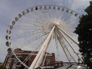 Skyview, Atlanta, downtown, Ferris wheel, Olympus, ride, thrill, visit, tourist attraction