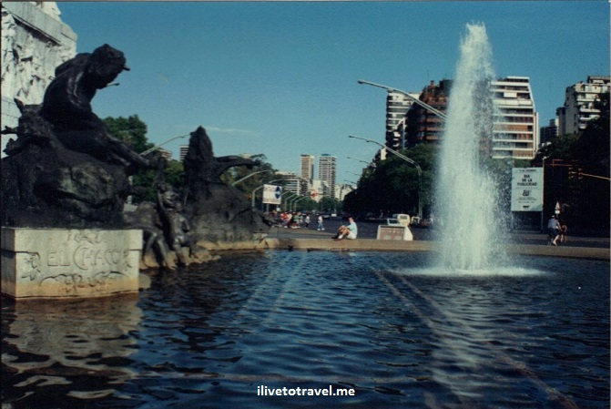 Buenos Aires, Argentina, city, monuments, architecture, Canon EOS Rebel, Urquiza, fountain Libertador