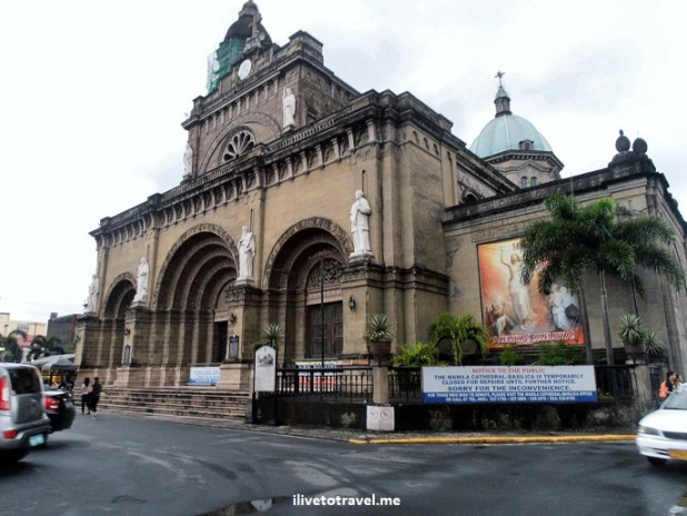 Manila Cathedral, Intramuros, Manila, Philippines, photo, Olympus, architecture