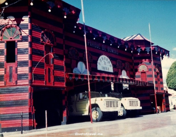 Ponce, Puerto Rico, fire station, parque de bombas, red, travel, photo