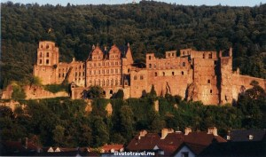 sunset, Heidelberg Castle, ruins, architecture, Heidelberg, Germany, architecture, travel, photo, Canon EOS Rebel