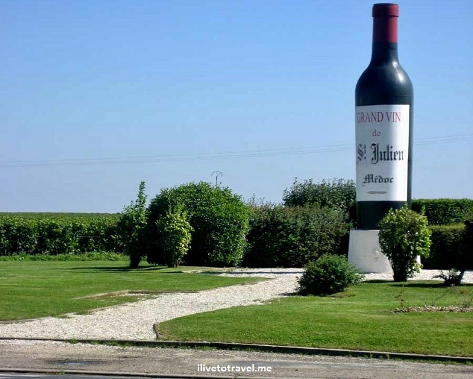 St. Julien, Bordeaux, large wine bottle, wine, bottle, photo, travel, Canon EOS Rebel