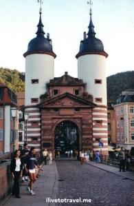 Old Bridge Gate, Heidelberg, Germany, architecture, travel, photo, Canon EOS Rebel