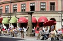 cafe, Stockholm, Sweden, summer, street scene, travel, photo, Canon EOS Rebel