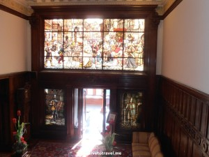 American Swedish Institute, Minneapolis, Turnblad, mansion, Golden Mile, stained glass window, architecture, travel, Olympus, photo