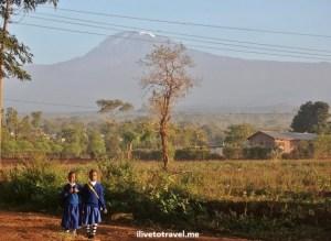 Kilimanjaro, schoolchildren, kids, Tanzania, Africa, vista, view, Olympus, travel, photo