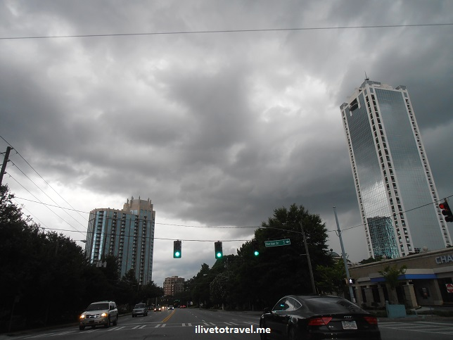 Atlanta, storm, Buckhead, dark sky, Olympus, photo