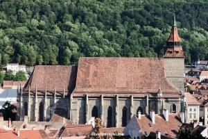 Brașov, Romania, Black Church, bell tower, architecture, travel, photo