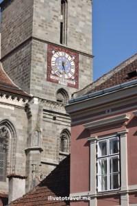 Brașov, Romania, Black Church, clock, bell tower, architecture, travel, photo