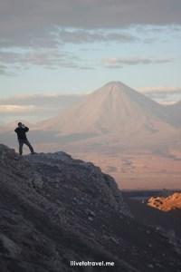 Chile, Atacama desert, color, purple, volcano, photo