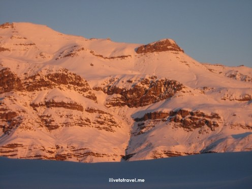 Ski, skiing, Chile, Valle Nevado, white, snow, Santiago, Andes, outdoors, sports, summer, winter, orange snow, sunset, mountain
